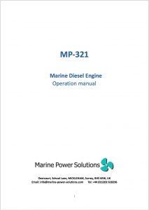 Marine Power MP-321 marine diesel engine Operation Manual