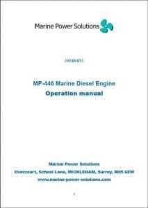 Marine Power MP446 diesel engine Operation Manual