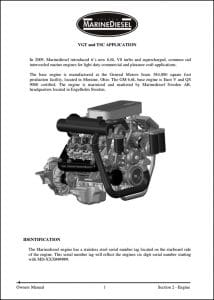 MarineDiesel VGT Owners Manual