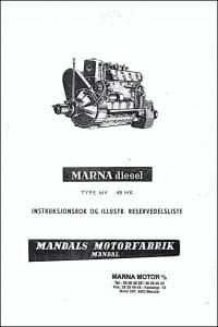Marna M4 instruksjonsbok og Illustr. Reservedelsliste på norsk