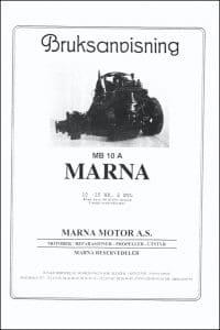 Marna MB10A Vedlikeholdshåndbok og illustrert reservedelsliste på norsk