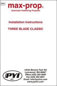 Max Prop 3 Blade Installation Instructions