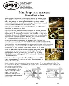 Max Prop 3 Blade feathering Propeller Removal Instructions