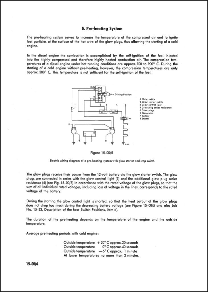 mercedes diesel engine om636 621 preheating guide marine Mercedes Diesel Pump Diagram
