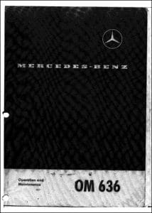 Mercedes Benz Diesel Engine OM636 Operation Manual