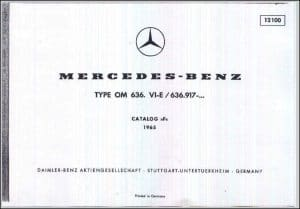 Mercedes Benz Diesel Engine OM636 Spares List