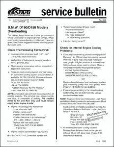 Mercruiser Bulletin 89-2 Overheating