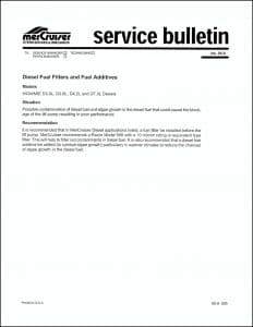 Mercruiser Bulletin 95-9 Filters & Additives