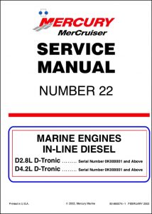 Mercruiser D2.8L D-Tronic diesel engine Service Manual