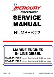 Mercruiser D2.8L D-Tronic diesel engine Service Manual