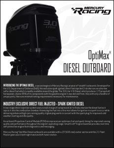 Mercury OptiMax Diesel Outboard Brochure
