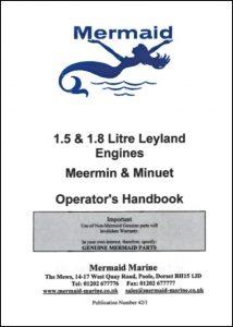 Mermaid 1.5 Leyland Meermin diesel engines Operator's Handbook
