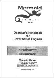 Mermaid Marine Dover Series diesel engines Operator's Handbook