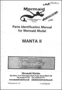 Mermaid Marine Manta II diesel engine Parts Identification Manual
