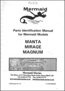 Mermaid Marine Manta, Mirage and Magnum Parts Identification Manual