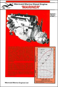 Mermaid Marine Mariner diesel engine Brochure