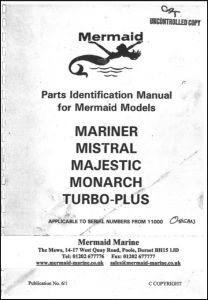 Mermaid Marine Mariner diesel engine Serial numbers from 11000 Parts Identification Manual