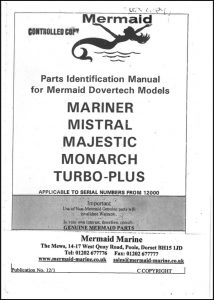 Mermaid Marine Mariner diesel engine Serial numbers from 12000 Parts Identification Manual