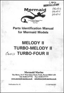 Mermaid Marine Melody II marine diesel engine from Jan 1995 Parts Identification Manual