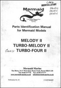 Mermaid Marine Melody II marine diesel engine from Jan 1995 Parts Identification Manual