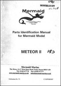 Mermaid Marine Meteor II diesel engine after Jan 1994 Parts Identification Manual