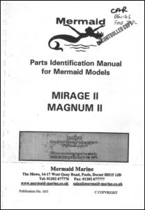 Mermaid Marine Mirage II diesel engine Serial numbers from 11000 Parts Identification Manual