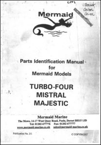 Mermaid Marine Turbo 4 diesel engine Serial numbers after 7000 Parts Identification Manual