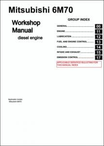 Mitsubishi 6M70 diesel engine Workshop Manual