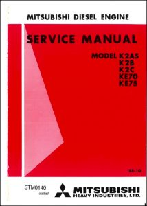 Mitsubishi K2AS diesel engine Service Manual