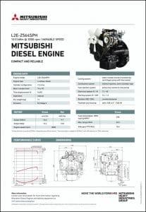Mitsubishi L2E-Z564SPH diesel engine Datasheet