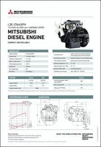 Mitsubishi L3E-Z564SPH diesel engine Datasheet