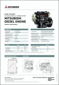 Mitsubishi S4Q2-Z365SP diesel engine Datasheet