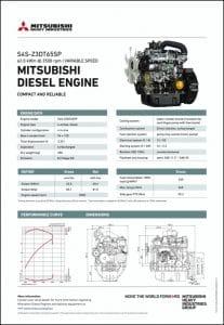 Mitsubishi S4S-Z3DT65SP diesel engine Datasheet