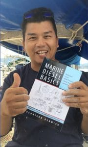 Morris Wong thumbs up to Marine Diesel Basics 1