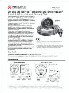 Murphy mechanical engine Temperature gauge guide