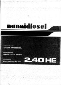 Nanni 2.40HE marine diesel engine Workshop Manual