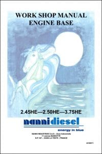 Nanni Marine Diesel Engine 2.45 HE Workshop Manual