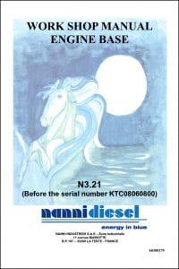 Nanni Marine Diesel Engine 3.2 before KTC08060800 Workshop Manual