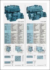Nanni 3.90H diesel engine technical Specifications Sheet