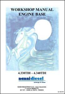 Nanni 4.330 TDI Marine Diesel Engine Workshop Manual