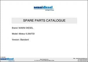 Nanni 5.250TDI marine diesel engine Spare Parts Catalogue