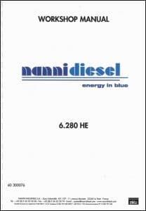 Nanni 6.280HE Marine Diesel Engine Workshop Manual