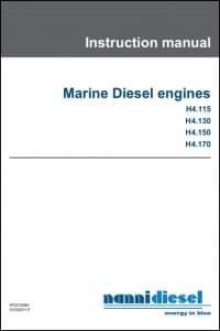Nanni H4.115 Marine Diesel Engine Instruction Manual