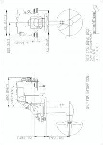 Nanni N2.10 diesel engine with 120S saildrive Drawing