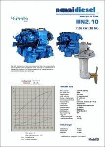 Nanni N2.10 diesel engine Brochure Danish