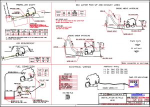 Nanni N2.10 marine diesel engine Installation Drawing