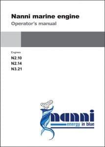 Nanni N2.10 Marine diesel Engine Operator Manual