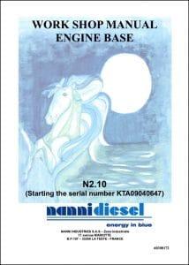 Nanni N2.10 Marine Diesel Engine after KTA09040647 Workshop Manual