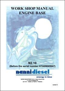 Nanni N2.10 Marine Diesel Engine before KTA09040647 Workshop Manual