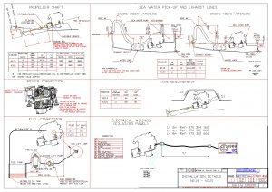 Nanni N2.14 diesel engine Installation Drawing